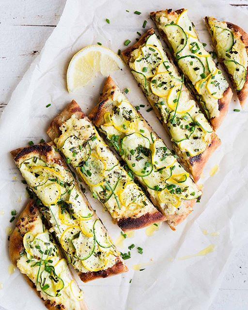 Macadamia Ricotta And Zucchini Flatbread