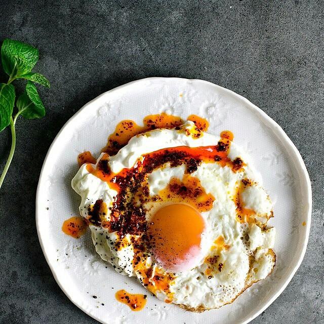 Simplified Cilbir, With Pan-fried Egg, Chili Browned Butter & Greek Yogurt