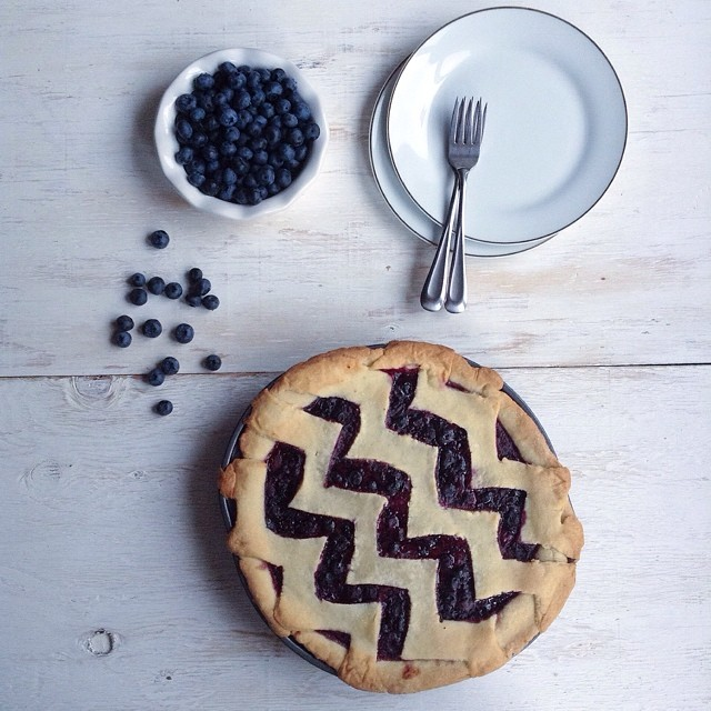 Blueberry Pie Chevron Crust