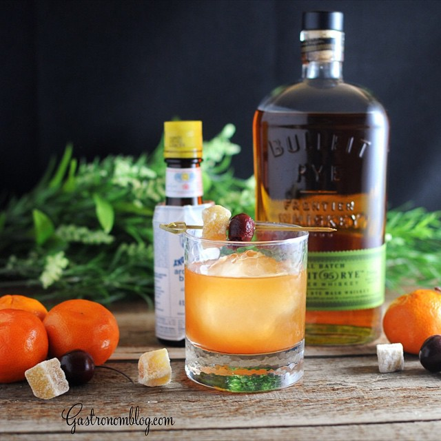 Ginger And Clementine Old Fashioned Cocktail