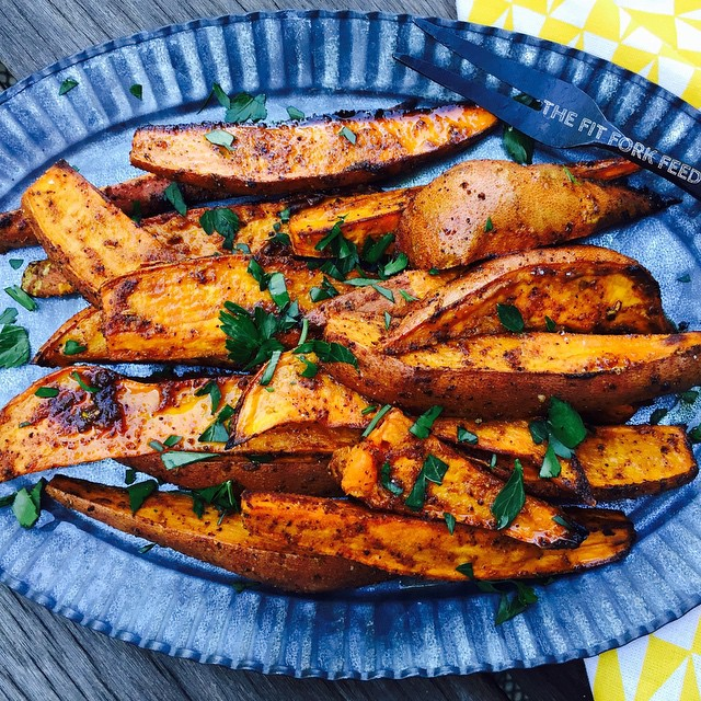 Tandoori Roasted Sweet Potatoes