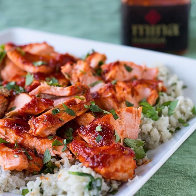 Maple And Harissa Glazed Salmon