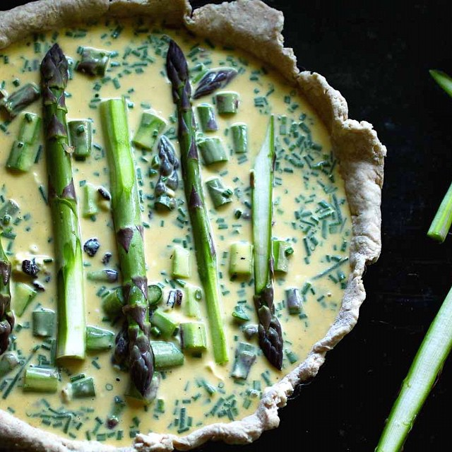 Asparagus, Goat Cheese And Bacon Tart