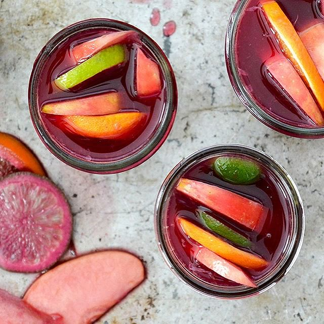 Red Wine Sangria With Pomegranate Italian Soda