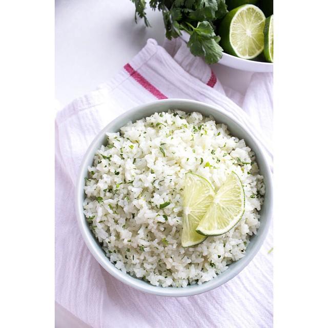 Cilantro, Lime And Coconut Milk Rice