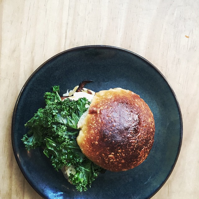Kale Egg Sandwich