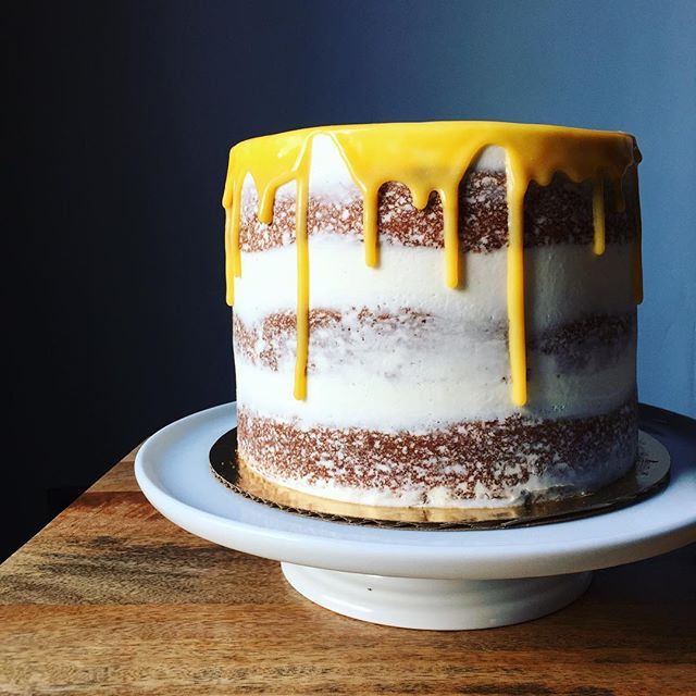 Vanilla Naked Cake With White Chocolate Ganache Recipe -7498