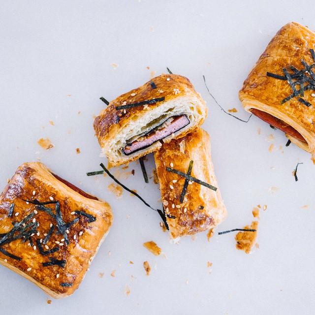 Shoyu Soy Sauce, Sugar Spam And Kimchi Mususbi Croissants