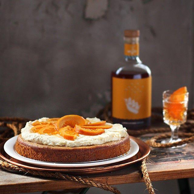 Orange Cardamom Honey  Cake