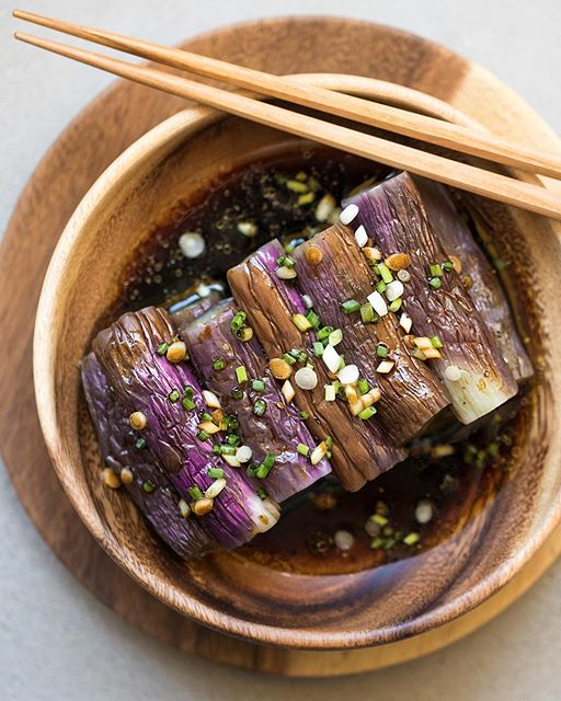 Cold Asian Style Eggplant recipe