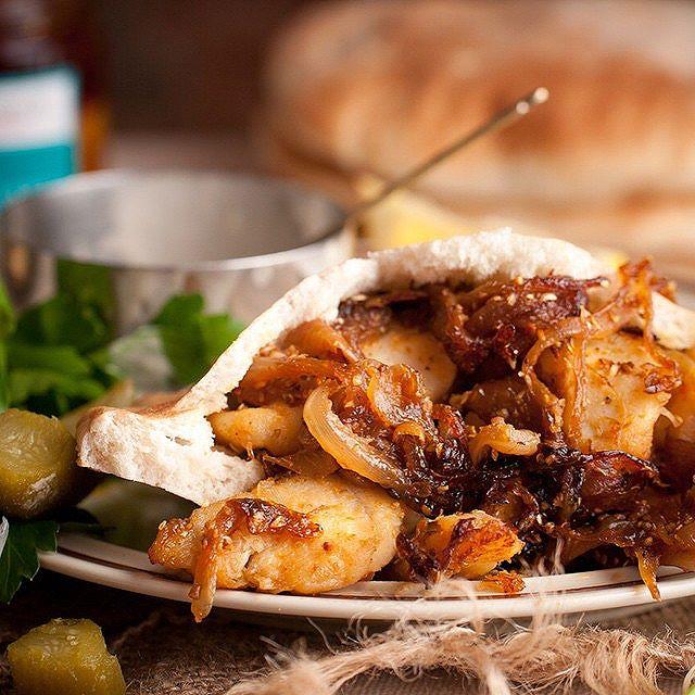 Monkfish Shawarma With Pita, Tahini & Pickles