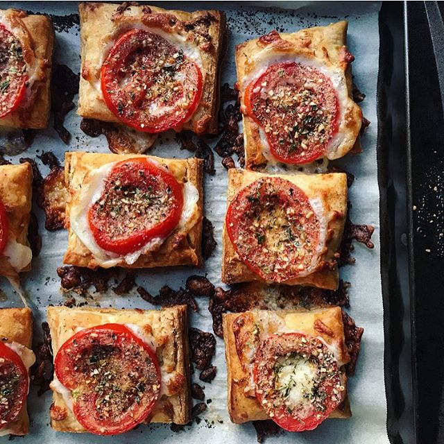Tomato Mozzarella Tarts recipe
