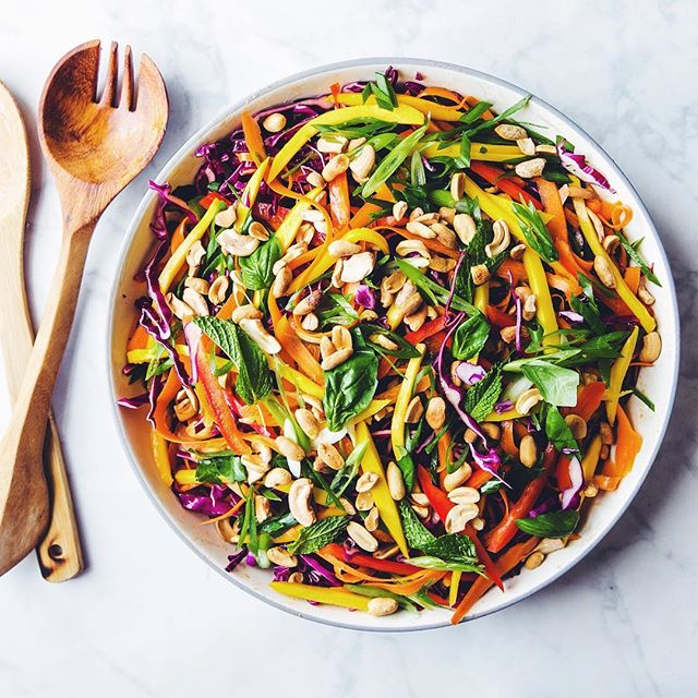 Mango And Cabbage Salad With Toasted Nuts