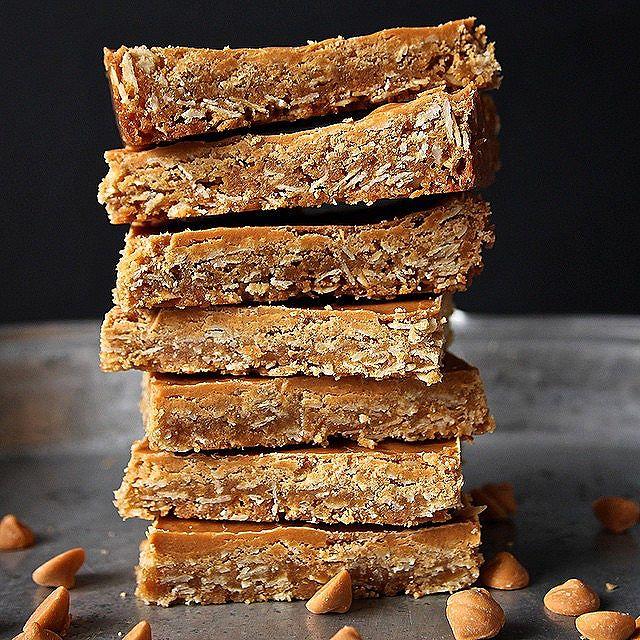 Oatmeal Butterscotch Bars With Brown Sugar Butterscotch Glaze