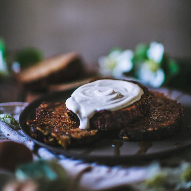 Banana Bread French Toast With Vanilla Bean Creme Fraiche