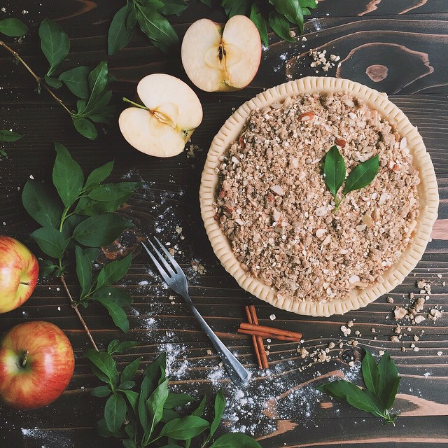 Apple And Pear Oat Crisp Pie