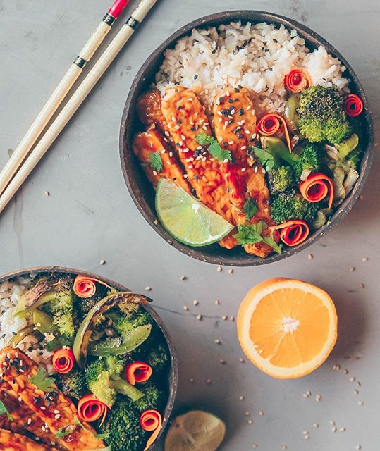 Sweet And Sour Tempeh Bowl