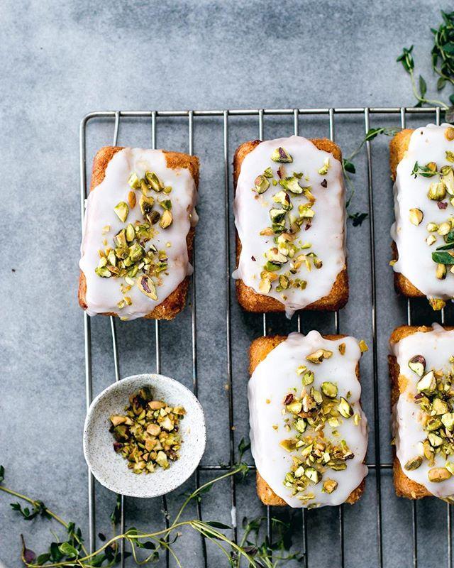 Mini Lemon, Polenta And Pistachio Cakes