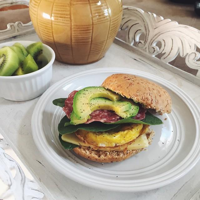 Avocado Bacon Egg Breakfast Sandwich