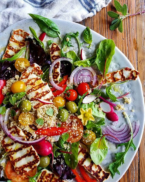 Grilled Holloumi And Quinoa Salad
