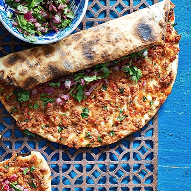 Spicy Lamb Thin Crust Pide
