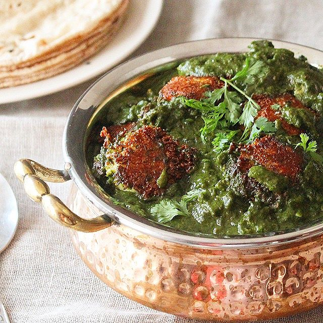 Paneer Kofta (cottage Cheese Balls) In Green Gravy