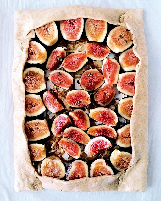 Thinking this favorite from last summer needs to be made again stat. Fig, onion, and labneh galette.