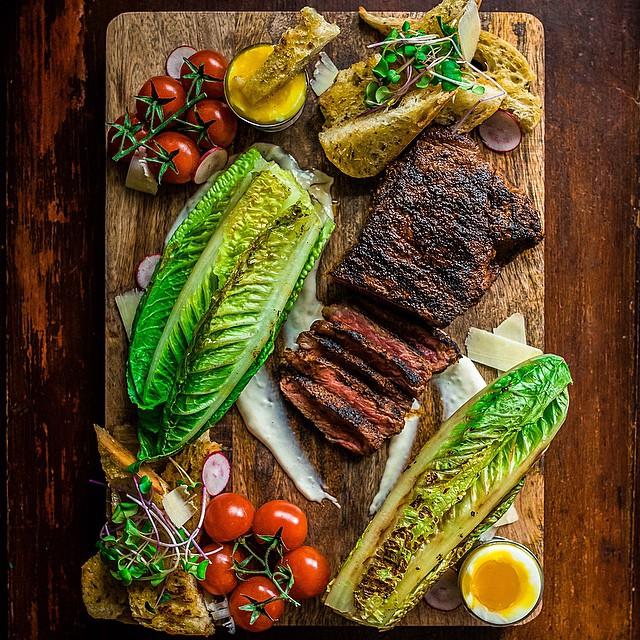 Grilled Steak Caesar Salad Board