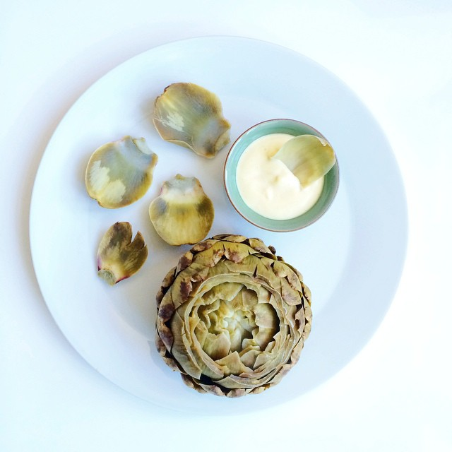Classic Artichokes With A Mustard And Lemon Dressing