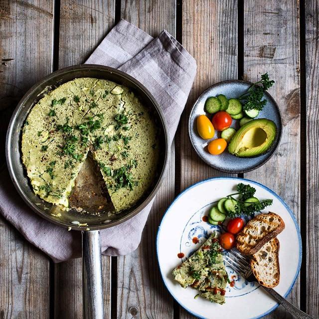Mung Bean And Vegetable Savory Pancake