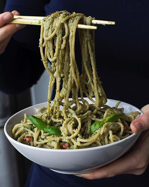 Avocado Basil Pesto Pasta