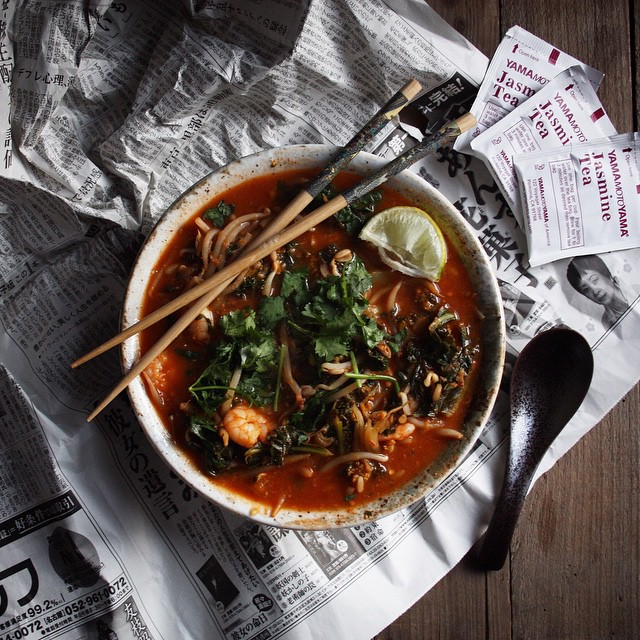 I can't stop making this hot and sour miso soup. it's such a quick, nourishing and delicious meal…