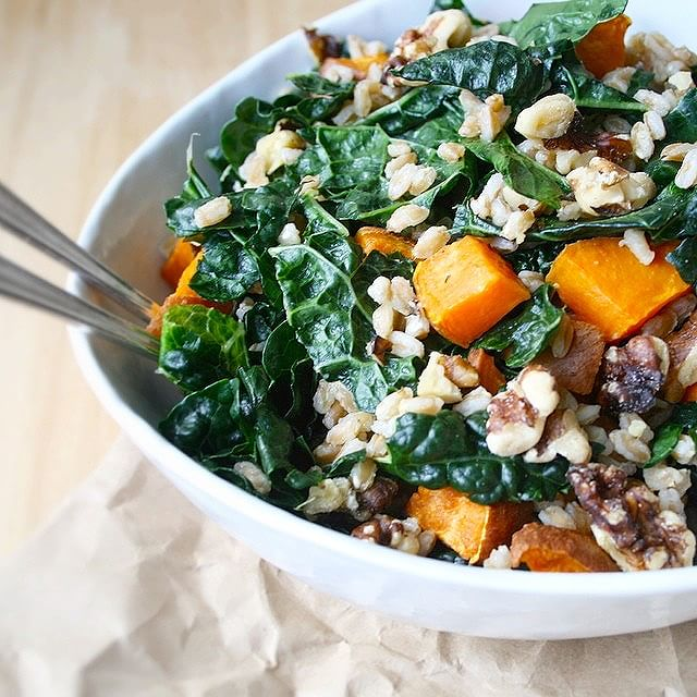Sweet Potato Salad With Kale & Farro