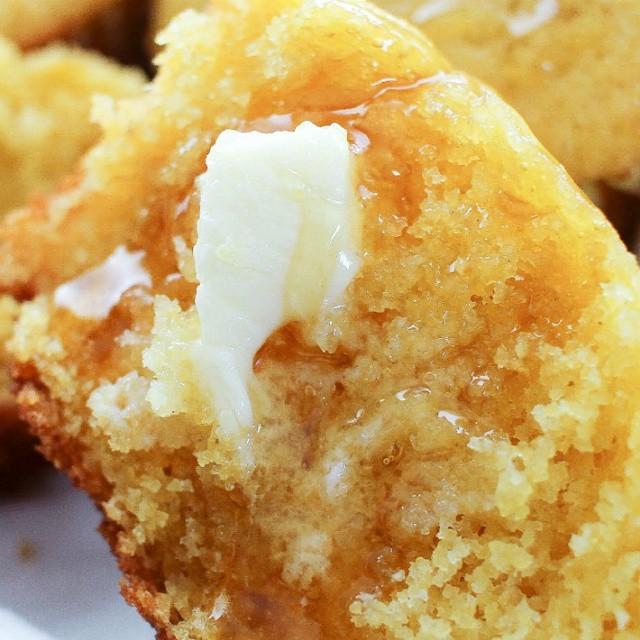 Savory Jalapeno & Honey Cornbread Muffins