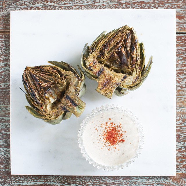 Grilled Artichokes With Worcestershire Aioli
