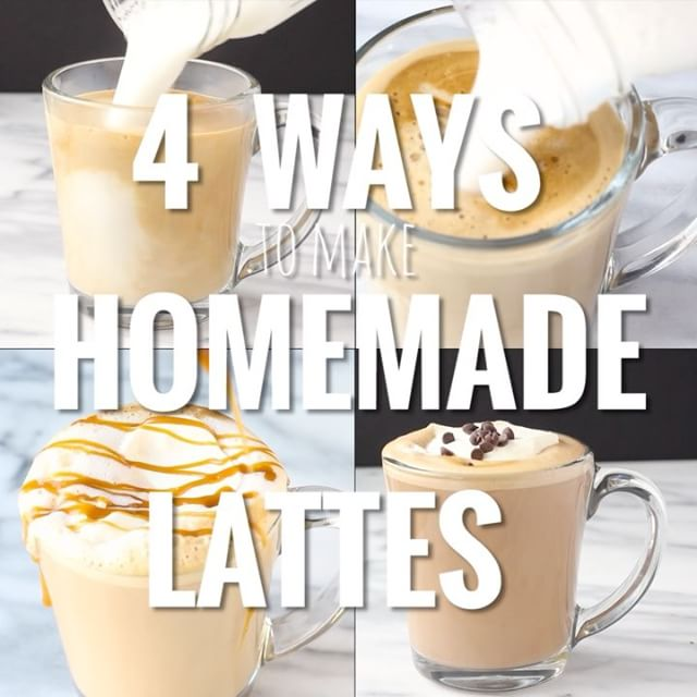 If you're looking for a midday pick-me-up, homemade lattes are the ticket,