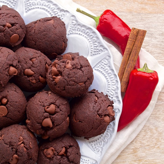 Mexican Double Chocolate Cookies