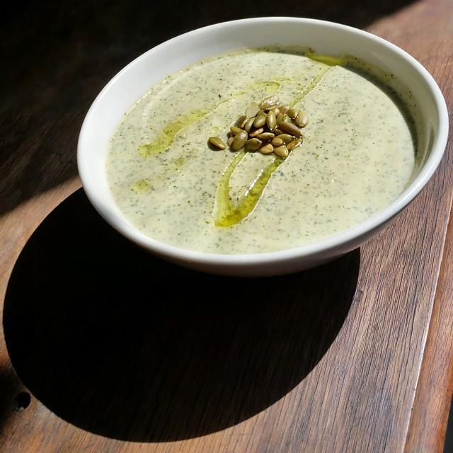 Cauliflower & Kale Spring Soup
