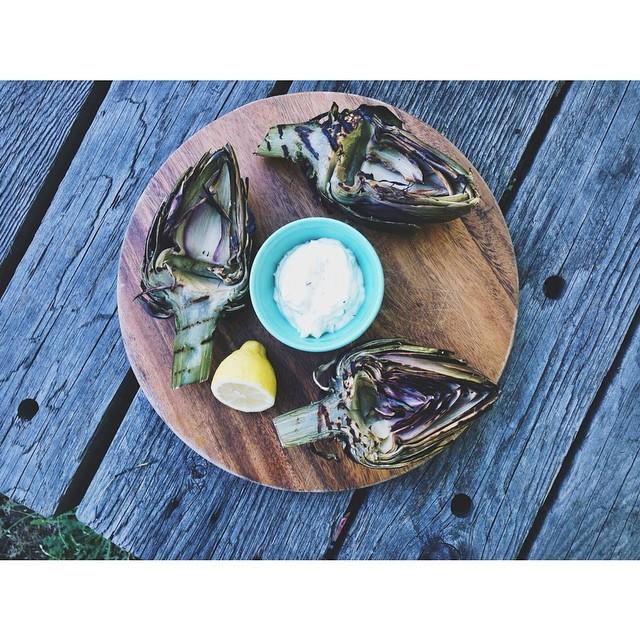 Grilled Artichokes With Herb-garlic Aioli
