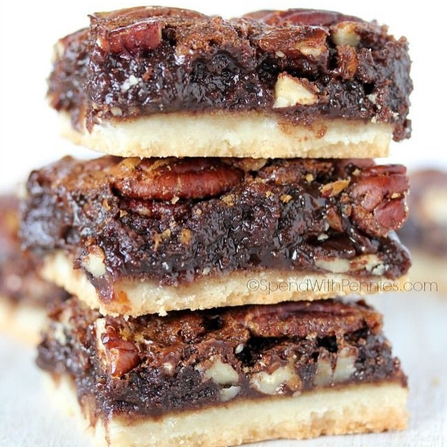 Nutty Chocolate Pecan Pie Bars