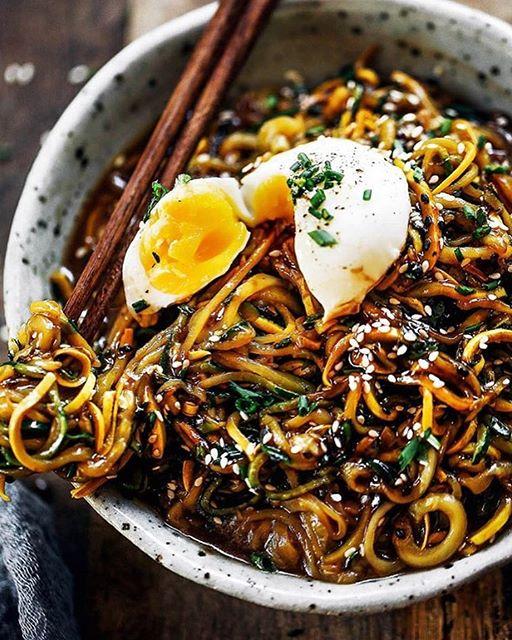 Balsamic Glazed Zucchini Noodles