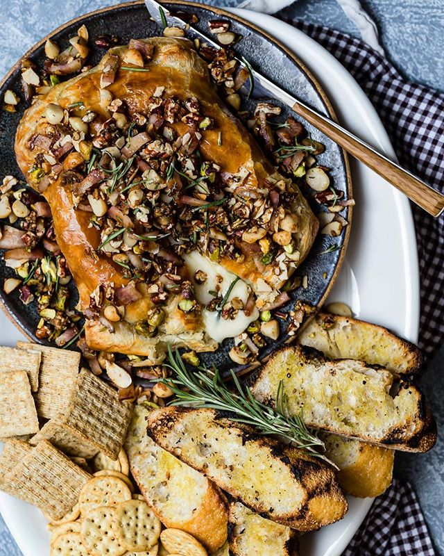When all you need on a Friday is a wheel of Brie wrapped in pastry and topped with candied nuts…