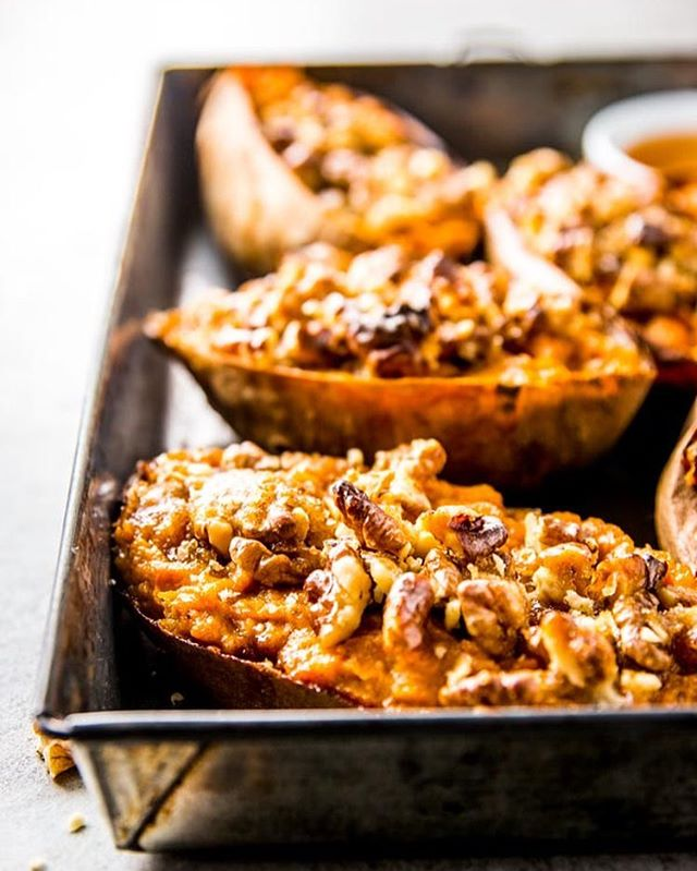 Still dreaming of these Maple Walnut Twice Baked Sweet Potatoes.