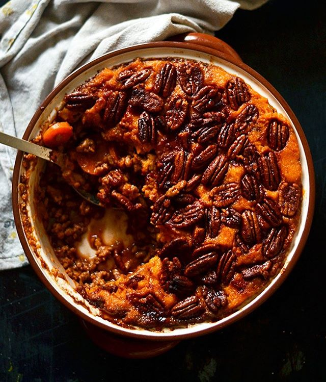Think American Sweet Potato Casserole, think English Shepherds pie. Combined to make something…