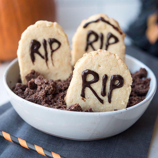 Halloween Tombstone Shortbread Cookies