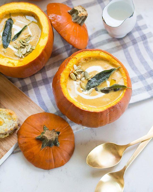 Creamy Pumpkin Soup With Crispy Sage