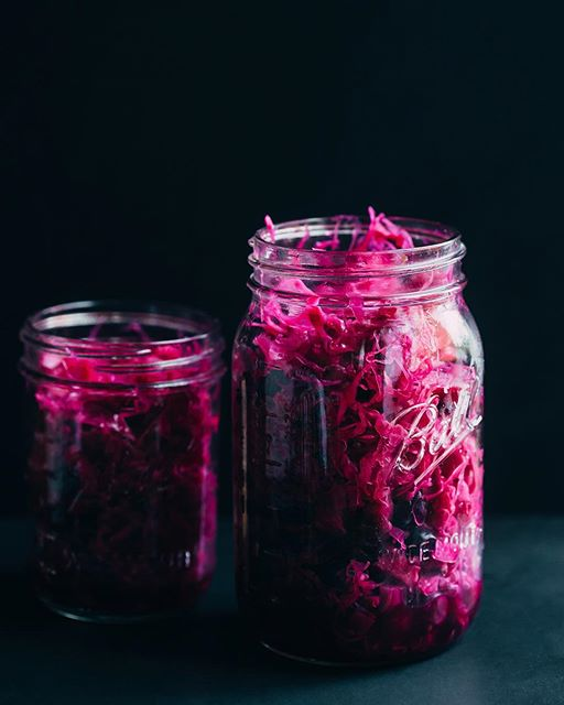 Cabbage, Blueberry And Apple Kraut