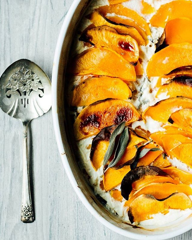 A butternut squash gratin! I know it sounds fancy and complicated but it truly is simple and a dish…