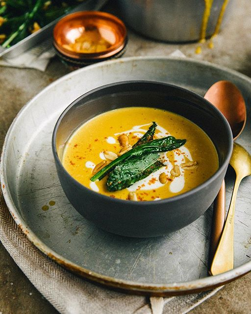 Pumpkin Soup With Roasted Peanuts