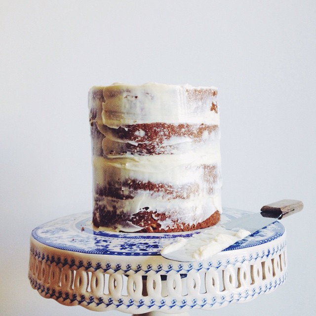 Banana And White Chocolate Cake With Vanilla Bean Cream Cheese Icing